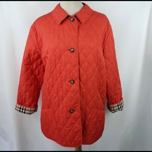 Authentic Burberry quilted jacket sz med